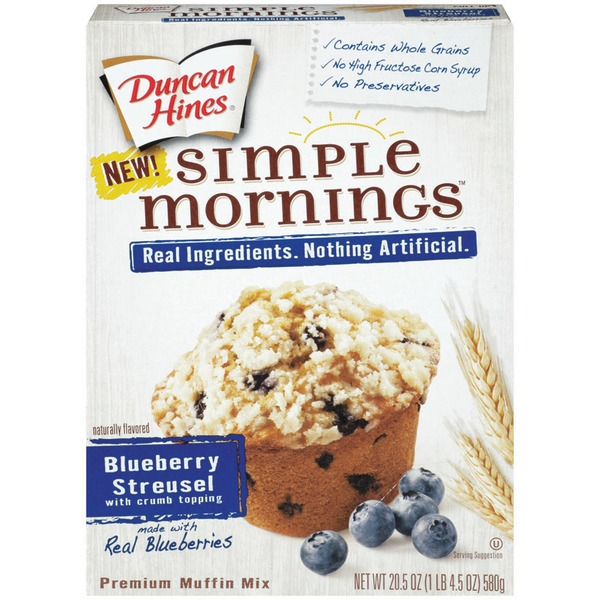 Duncan Hines Simple Mornings Blueberry Streusel with Crumb Topping Muffin Mix