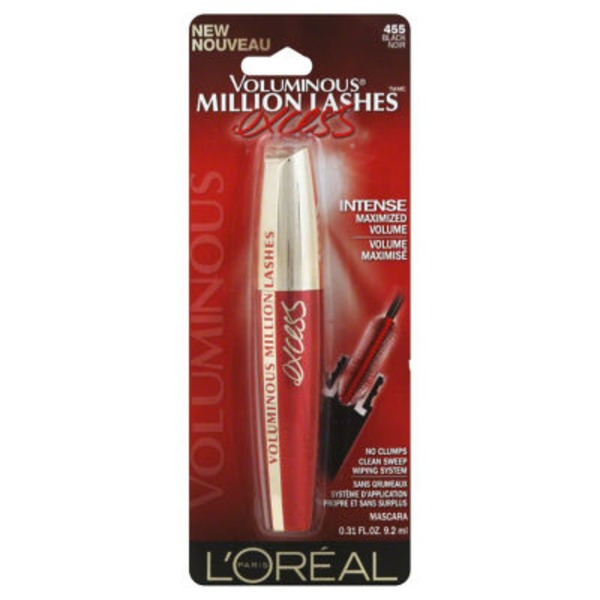 Voluminous Million Lashes Excess 455 Black Mascara