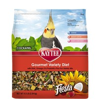 Kaytee Gourmet Variety Diet with DHA, Omega-3 & Probiotics Plus Fun Variety Mix Fiesta Cockatiel Food