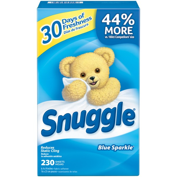Snuggle Blue Sparkle Fabric Softener Dryer Sheets