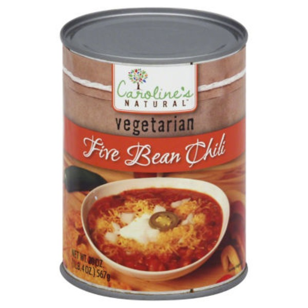 Carolines Vegetarian 5 Bean Chili