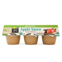 365 Organic Unsweetened Apple Sauce