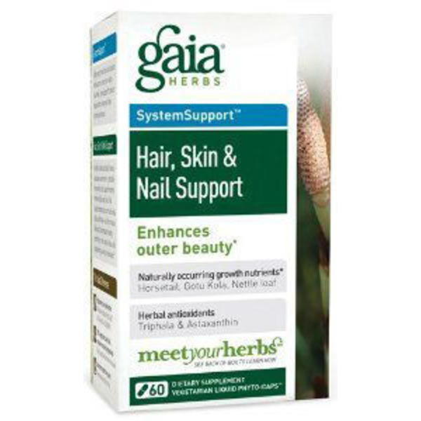 Gaia Herbs Hair Skin & Nail Support Dietary Supplement