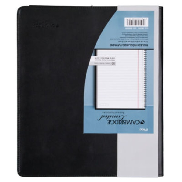 Mead Cambridge Limited Refillable Notebook Black College Ruled