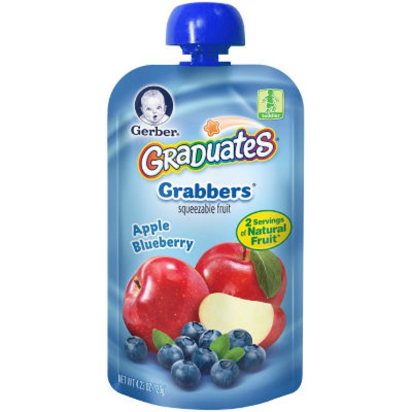 Gerber Grabbers Apple Blueberry Squeezable Puree