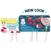 Gerber Yogurt Blends Snack, Mixed Berry, 3.5 oz Cups, 4 Count