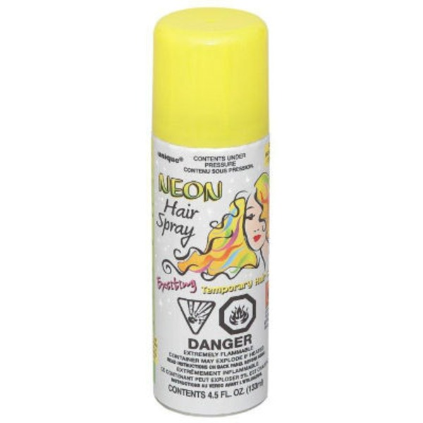 Unique Yellow Neon Hair Spray