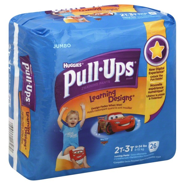 Pull Ups Training Pants, 2T-3T (18-34 lbs), Disney/Pixar Cars, Jumbo