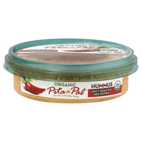 Pita Pal Spicy Roasted Red Pepper Hummus