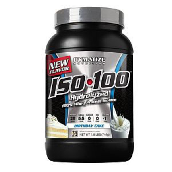 Dymatize Iso 100 Hydrolyzed, Birthday Cake