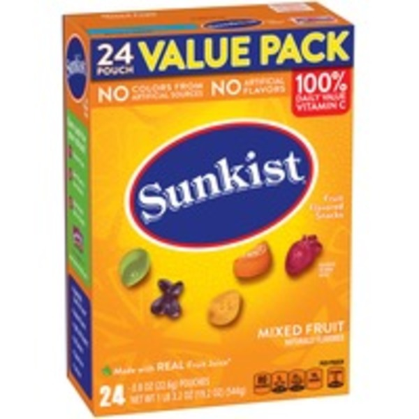 Sunkist Mixed Fruit Fruit Flavored Snacks