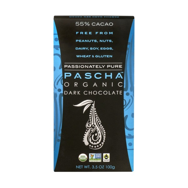 Pascha Organic Dark Chocolate 55% Cacao