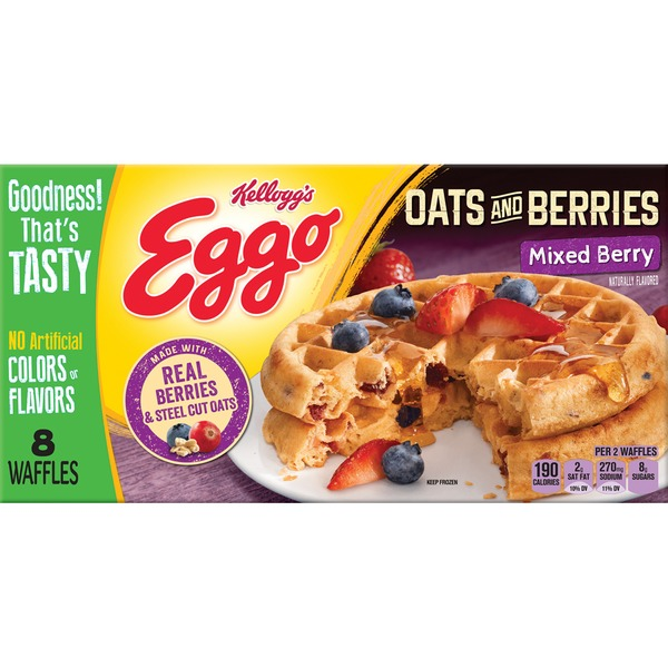 Kellogg's Oats & Berries Mixed Berry Waffles