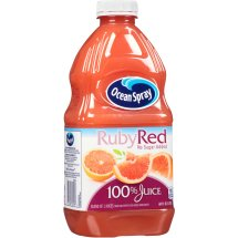 Ocean Spray 100% Juice, Ruby Red Grapefruit, 60 Fl Oz, 1 Count