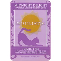 Soulistic Midnight Delight Mackerel & Tuna Dinner In Gravy Adult Cat Food Pouches