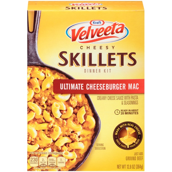 Kraft Dinners Velveeta Skillets Ultimate Cheeseburger Mac One Pan Dinner Kit