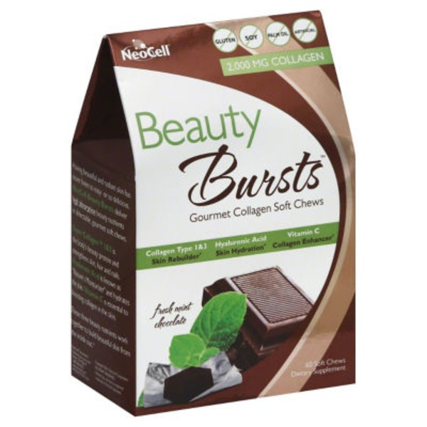 NeoCell Beauty Bursts Gourmet Collagen Mint Chocolate Soft Chews