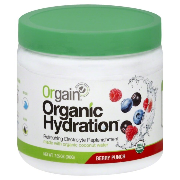 Orgain Hydration Drink Mix, Berry Punch, Organic, Jar