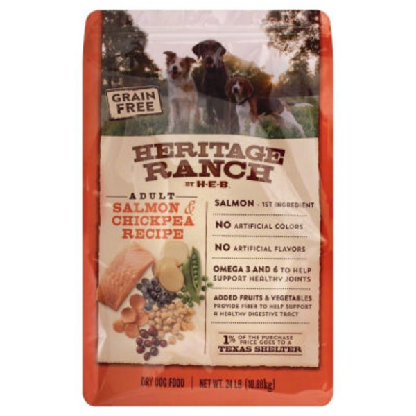 H-E-B Heritage Ranch Grain Free Dry Dog Food, Salmon