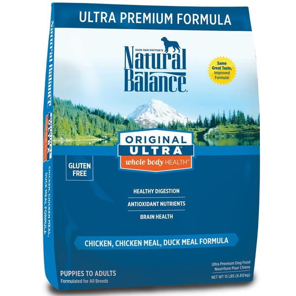 Natural Balance Original Ultra Whole Body Health Chicken, Chicken Meal & Duck Meal Dog Food