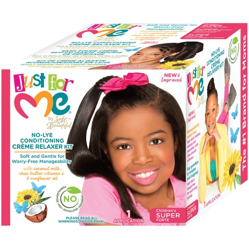 Just For Me by Soft & Beautiful Children's Super No-Lye Conditioning Creme Relaxer Kit