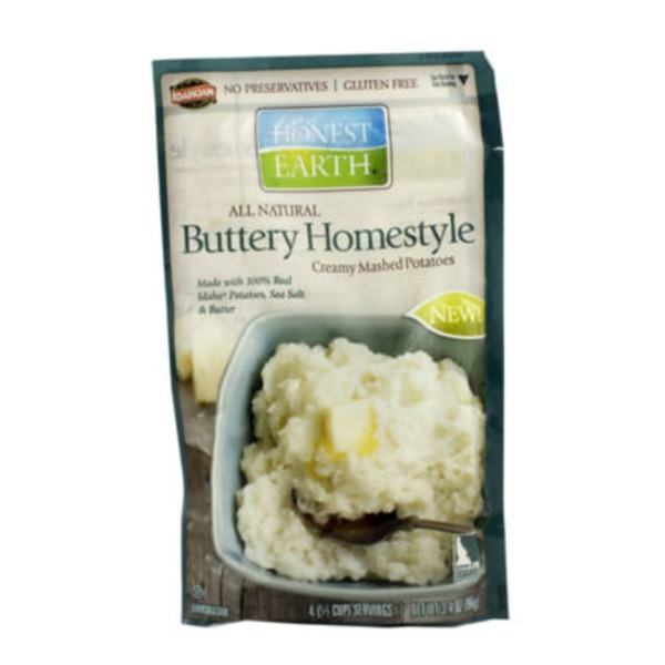 Honest Earth Mashed Potatoes, Creamy, Buttery Homestyle