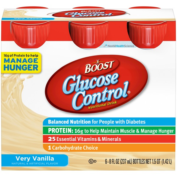Boost Glucose Control Very Vanilla Nutritional Drink