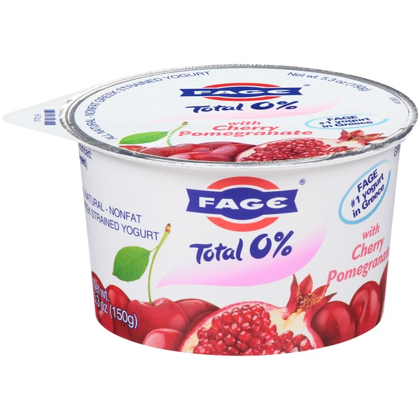 Fage Total 0% with Cherry Pomegranate Nonfat Greek Strained Yogurt