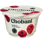 Chobani Greek Yogurt Raspberry Fruit on the Bottom Non-Fat Yogurt, 5.3 oz