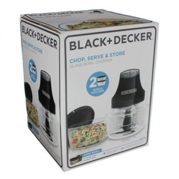 Black & Decker Chop, Serve & Store Glass Bowl Chopper