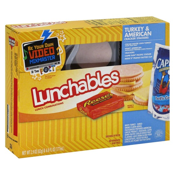 Oscar Mayer. Lunchables Turkey & American Cracker Stackers