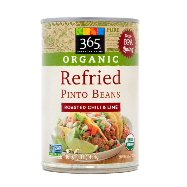 365 Organic Refried Pinto Beans with Chili & Lime