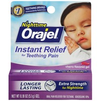 Orajel Nighttime Formula for Teething Cherry Flavored Gel Baby Oral Pain Reliever
