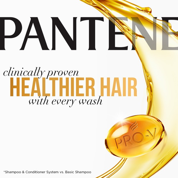 Pantene Frizzy to Smooth Pantene Pro-V Smooth and Sleek Conditioner 32 fl oz with Pump - Smoothing Conditioner  Female Hair Care