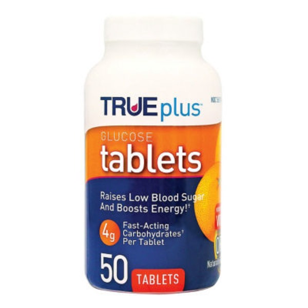 True Plus Orange Flavor Glucose Tablets