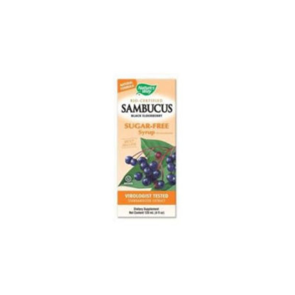 Nature's Way Sambucus Bio-Certified Elderberry Natural Syrup Sugar-Free