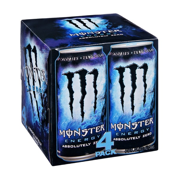 Monster Energy Absolutely Zero Drink - 4 CT