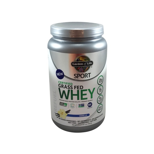 Garden of Life Sport Certified Grass Fed Whey Vanilla Flavor Protein Powder