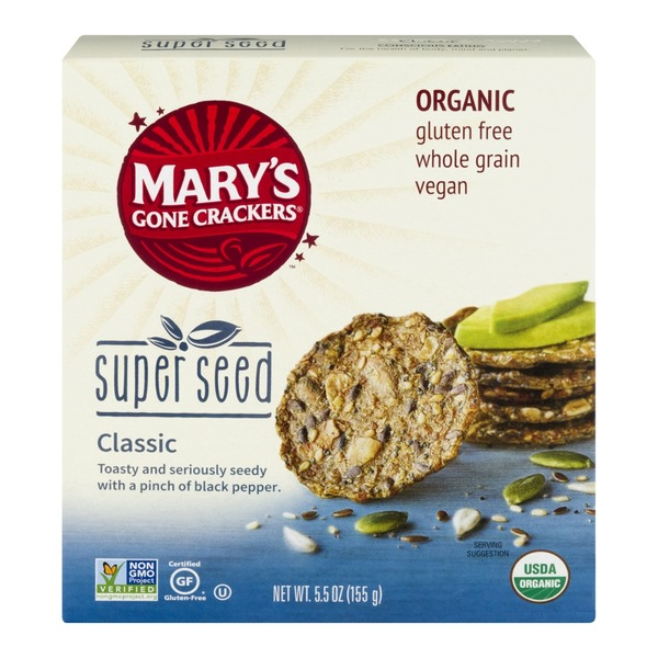 Mary's Gone Crackers Super Seed Crispy Crackers