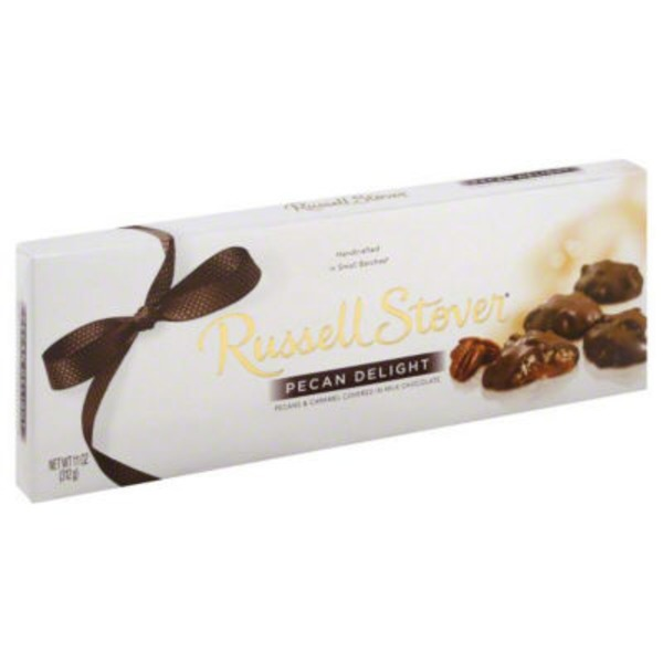 Russell Stover Pecans & Caramel Covered In Milk Chocolate Pecan Delight