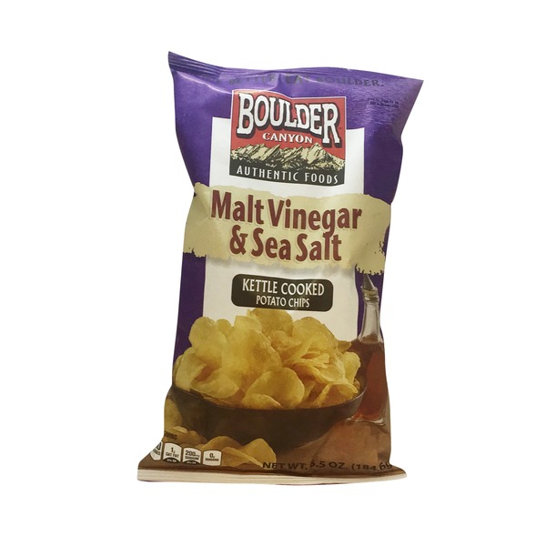 Boulder Canyon Kettle Cooked Malt Vinegar & Sea Salt Potato Chips