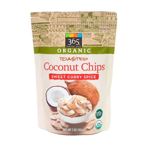 365 Original Sweet Curry Spice Coconut Chips Toasted
