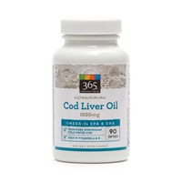 365 Cod Liver Oil 1000 mg Softgels