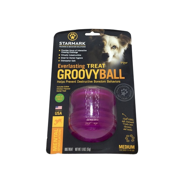 Starmark Everlasting Treat Groovy Ball for Dogs