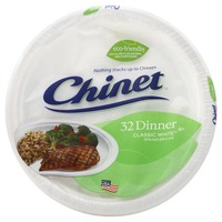 Chinet Classic White Dinner Plates, 10.375