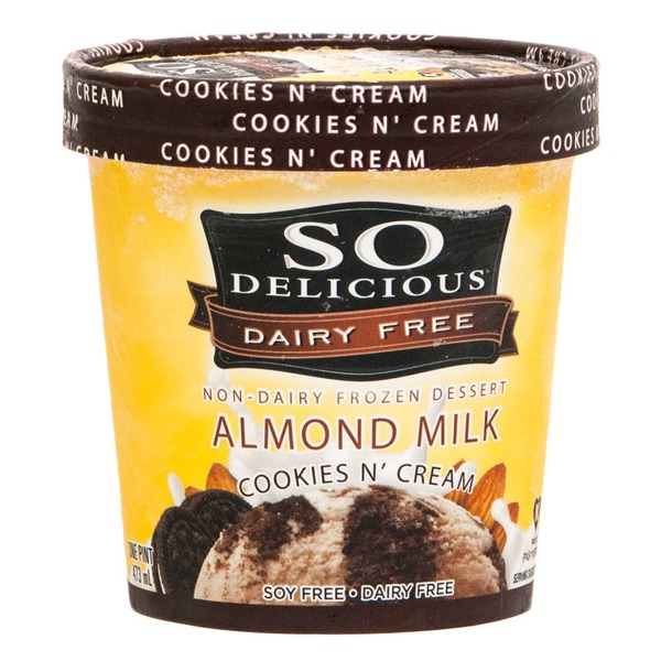 So Delicious Almond Milk Cookie 'N Cream Non-Dairy Frozen Dessert