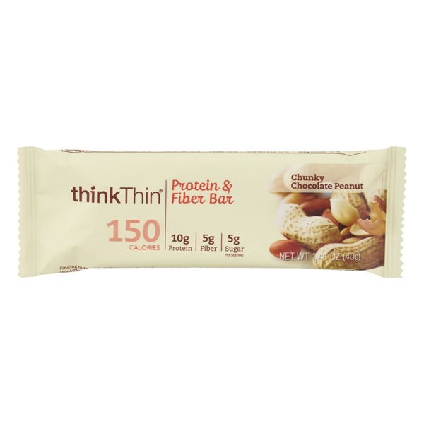 thinkThin Lean Protein & Fiber Bar Chunky Chocolate Peanut