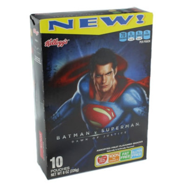 Kellogg's Batman v Superman Dawn of Justice Assorted Fruit Flavored Snacks