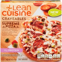 Lean Cuisine Craveables Sausage, pepperoni, mushrooms, roasted pepper and onions with a four cheese blend Supreme Pizza