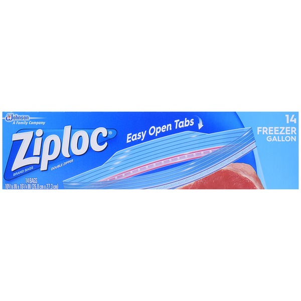 Ziploc Double Zipper Gallon Freezer Bags